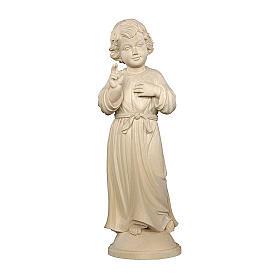 Gesù Adolescente legno naturale Valgardena s1