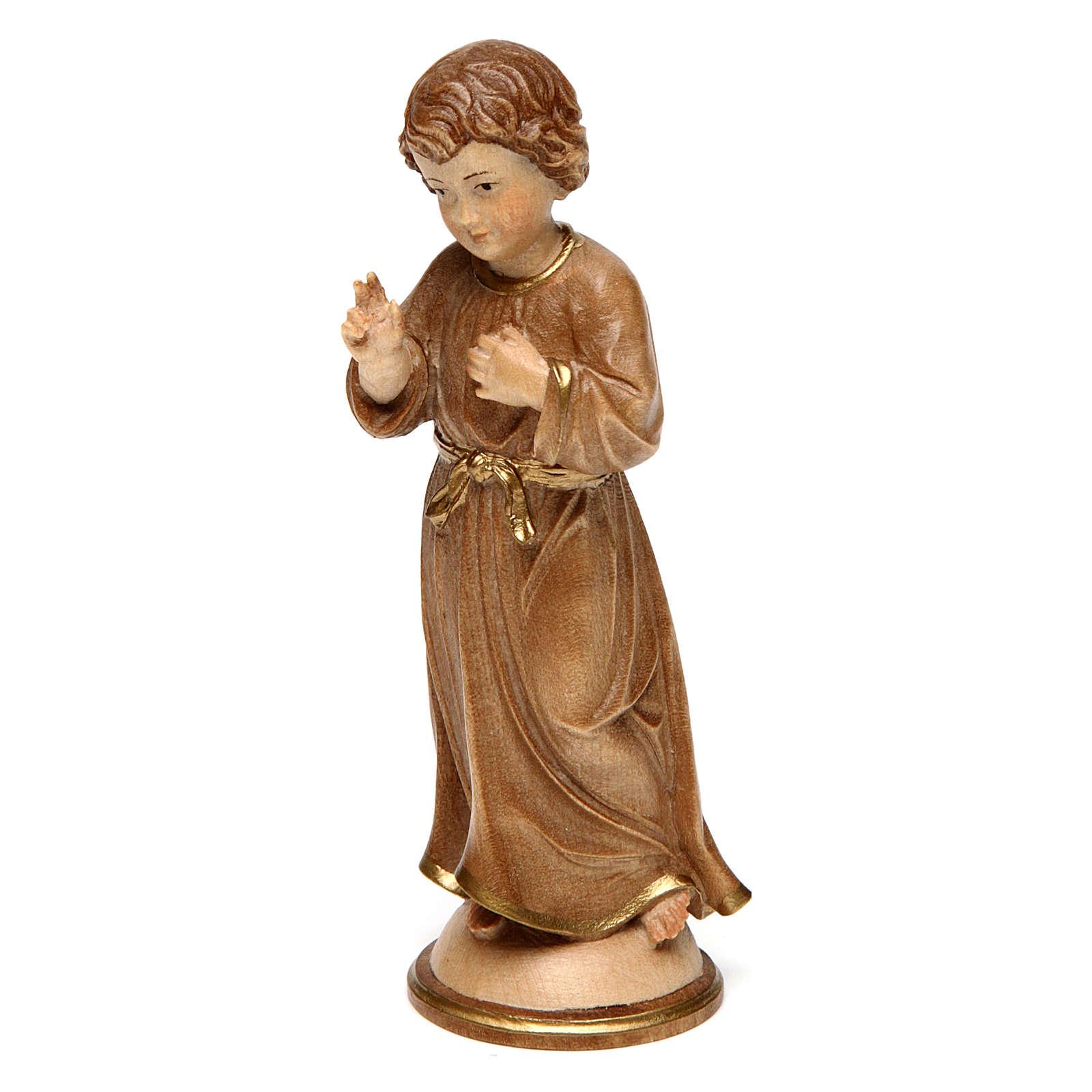 Jesús adolescente madera bruñida 3 colores Val Gardena 4
