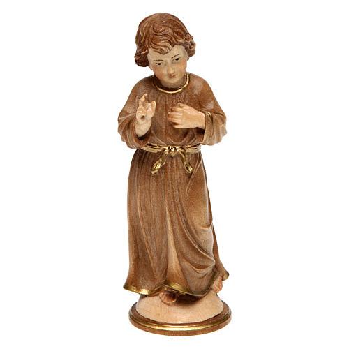 Jesús adolescente madera bruñida 3 colores Val Gardena 1