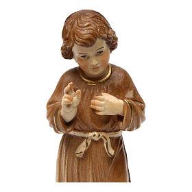 Gesù Adolescente legno brunito 3 colori Valgardena s2