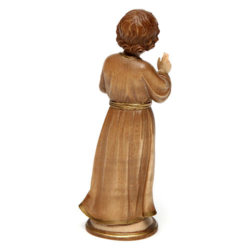 Gesù Adolescente legno brunito 3 colori Valgardena 4