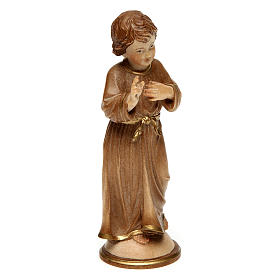 Adolescent Jesus Christ burnished in 3 colours in wood of Valgardena s3