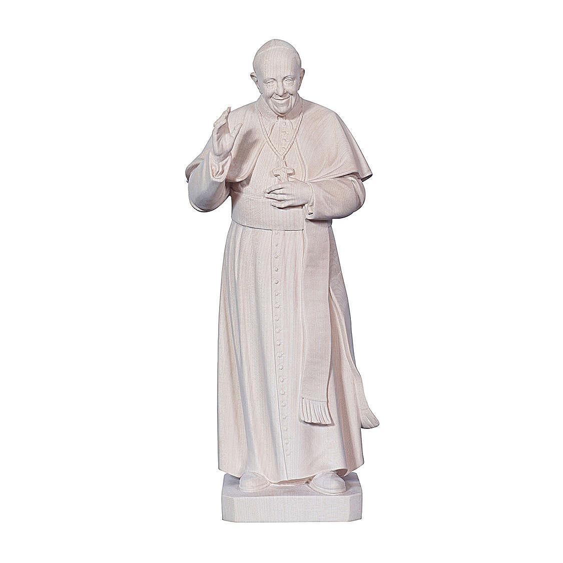 Papa Francesco naturale legno acero Valgardena 4