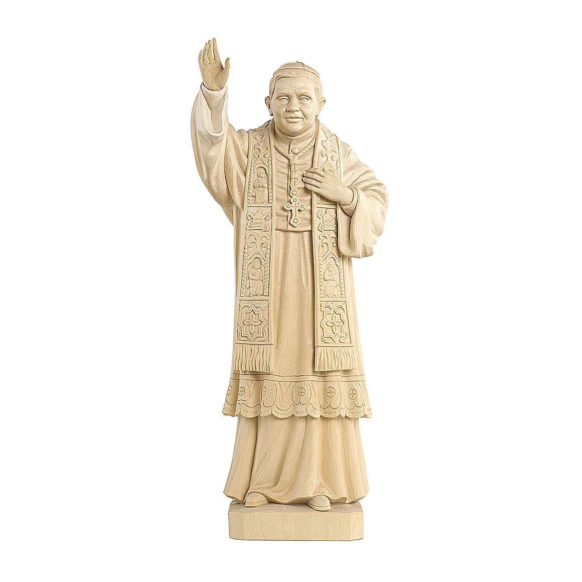 Papa Benedetto XVI naturale legno acero Valgardena 4
