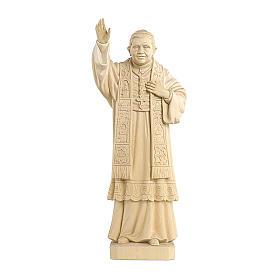 Papa Benedetto XVI naturale legno acero Valgardena s1