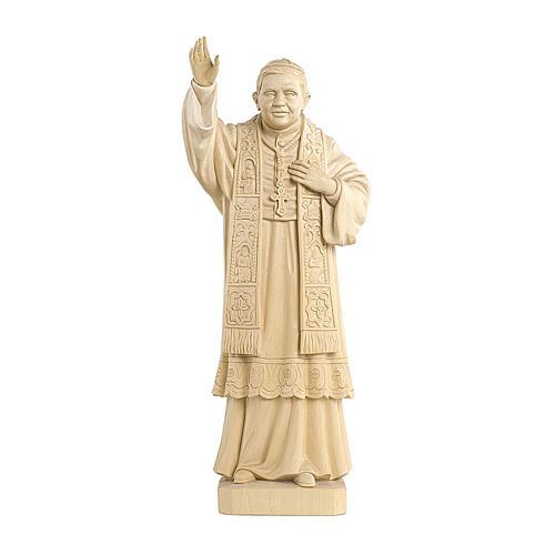 Papa Benedetto XVI naturale legno acero Valgardena 1