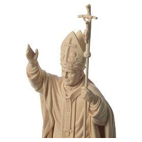 Papa Giovanni Paolo II con mitria naturale legno acero Valgardena s2