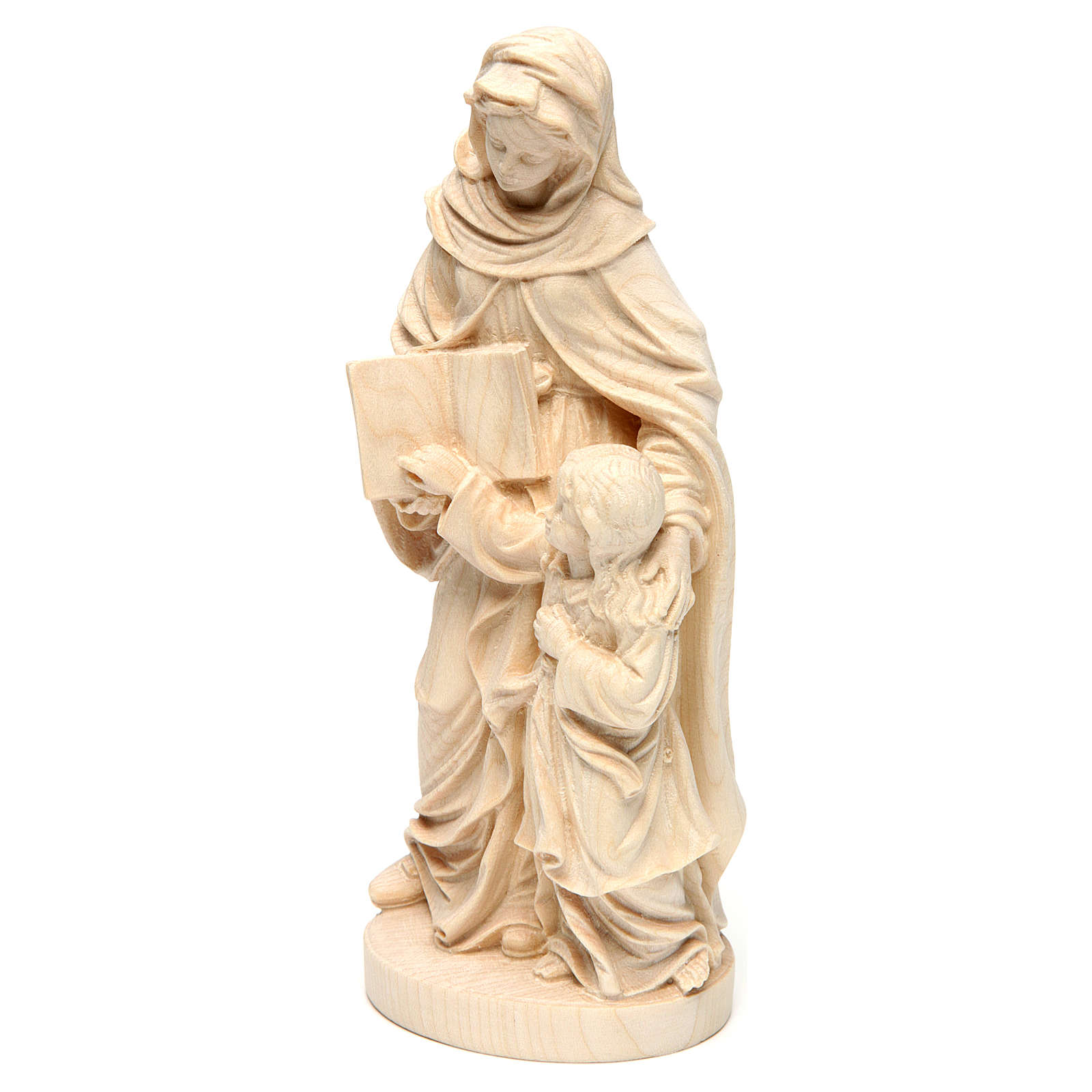 Saint Anne in natural maple wood of Valgardena 4