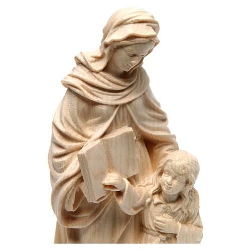 Saint Anne in natural maple wood of Valgardena 2