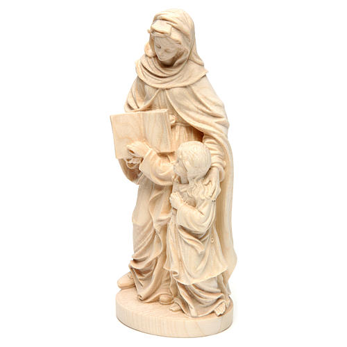 Saint Anne in natural maple wood of Valgardena 3