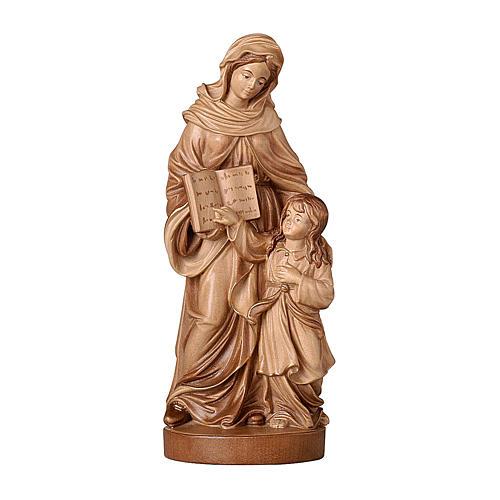 Sant'Anna brunita 3 colori legno acero Valgardena 1