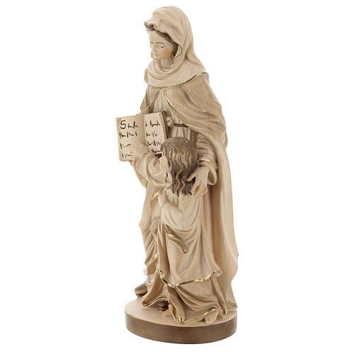 Sant'Anna brunita 3 colori legno acero Valgardena 3