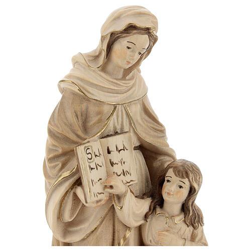 Sant'Anna brunita 3 colori legno acero Valgardena 4