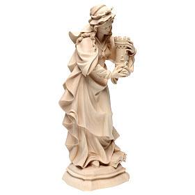 Saint Barbara in natural maple wood of Valgardena s4