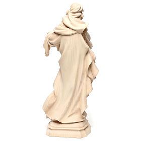Saint Barbara in natural maple wood of Valgardena s5