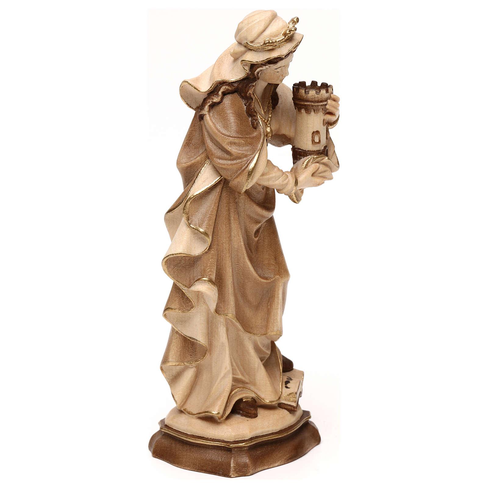 Heilige Barbara Grödnertal Holz braunfarbig 4