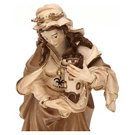 Sainte Barbe brunie 3 tonalités bois érable Val Gardena s2