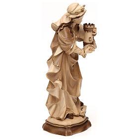 Święta Barbara wyk. przyciemniane 3 kolory drewno klonowe Val Gardena s4