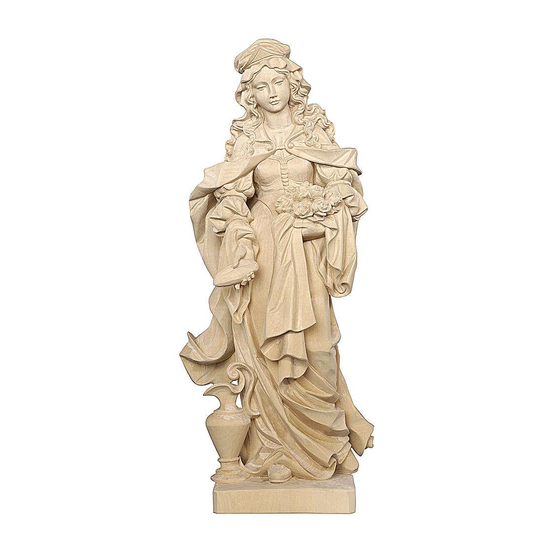 Santa Elisabetta con pane naturale legno acero Valgardena 4