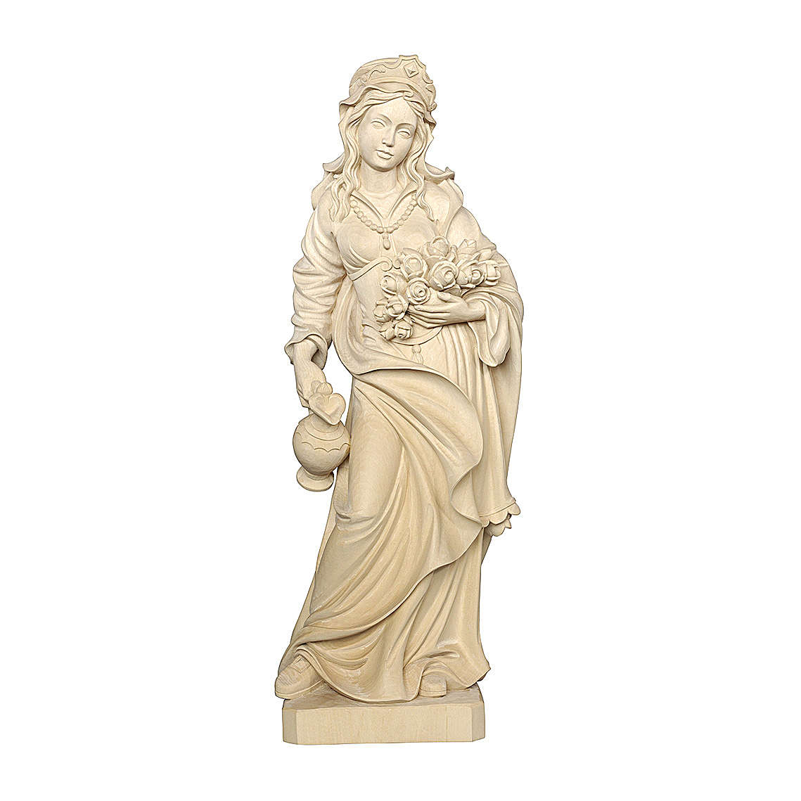 Santa Elisabetta naturale legno acero Valgardena 4