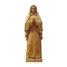 Santa Francesca Saverio Cabrini naturale legno acero Valgardena s1