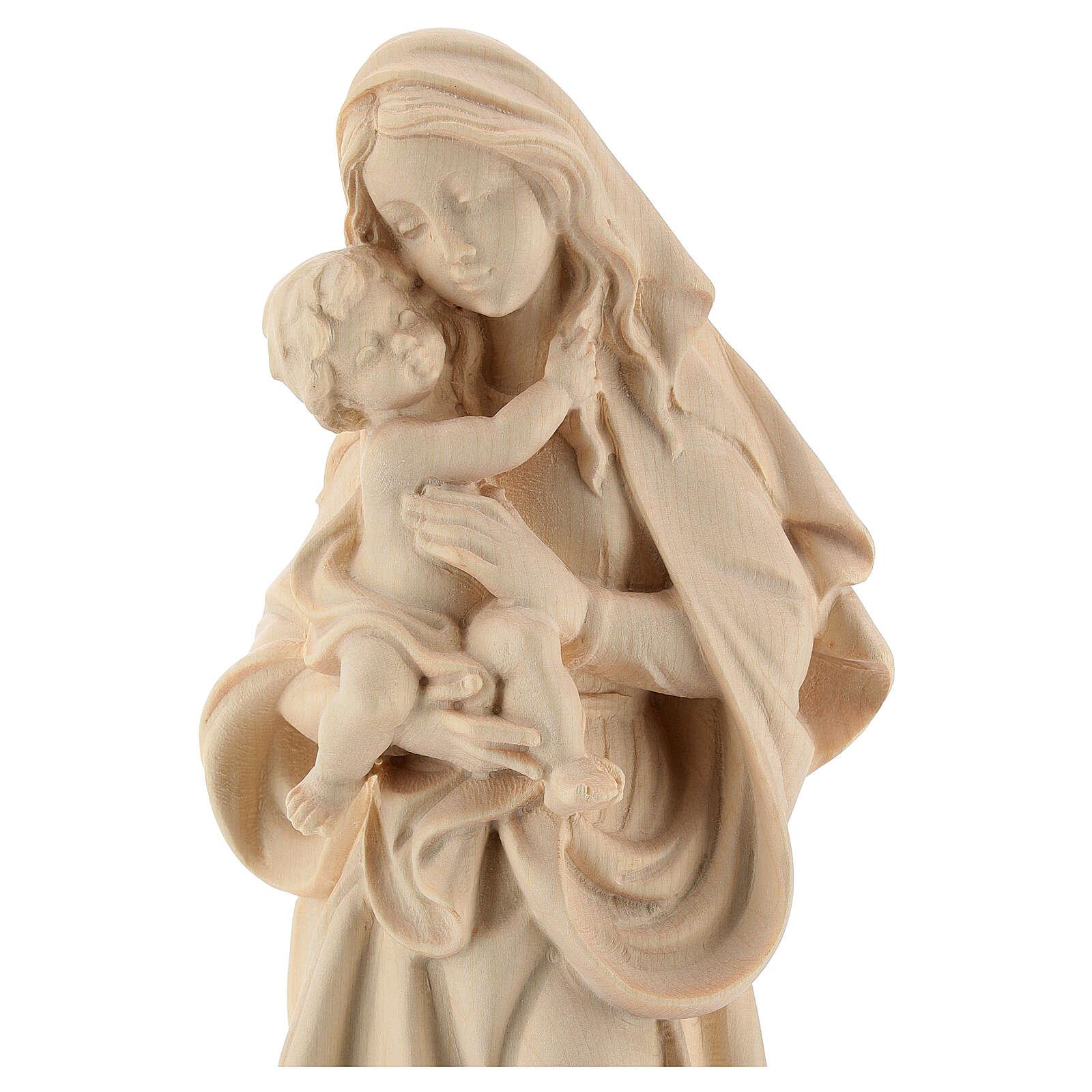Madonna della pace legno Valgardena naturale 4
