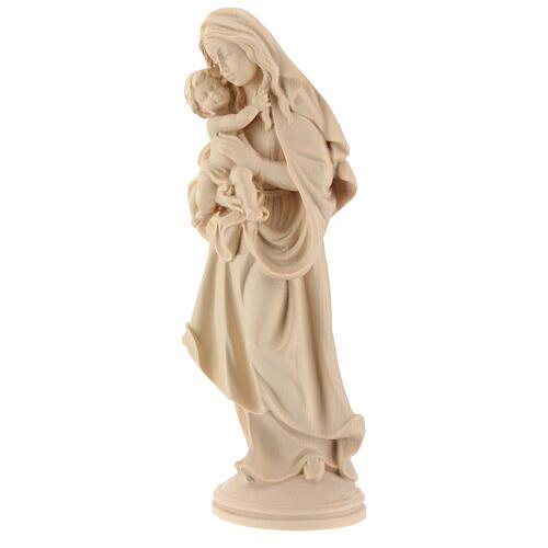 Madonna della pace legno Valgardena naturale 3