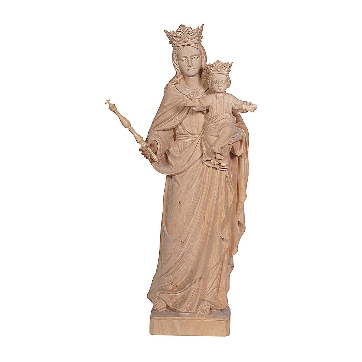 Mary Help of Christians in natural wood of Val Gardena 4