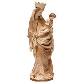 Imágenes de madera natural: Virgen Krumauer madera Val Gardena bruñida 3 colores