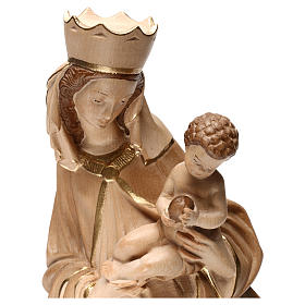 Our Lady of Krumauer in wood of Valgardena burnished in 3 colours s2