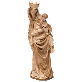 Our Lady of Krumauer in wood of Valgardena burnished in 3 colours s3