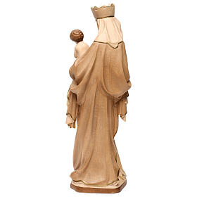 Our Lady of Krumauer in wood of Valgardena burnished in 3 colours s5