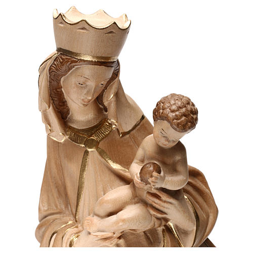 Our Lady of Krumauer in wood of Valgardena burnished in 3 colours 2