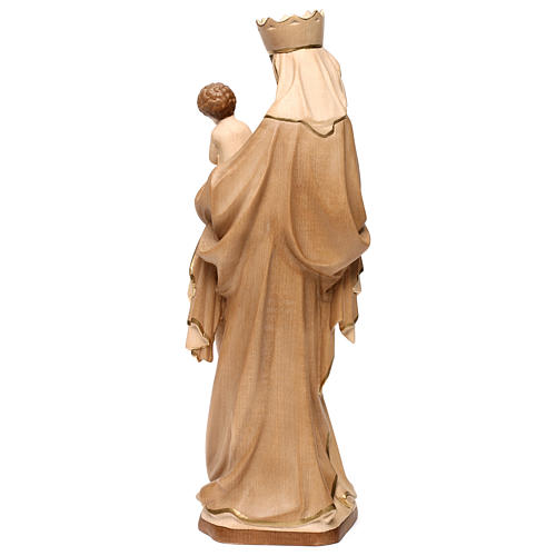 Our Lady of Krumauer in wood of Valgardena burnished in 3 colours 5