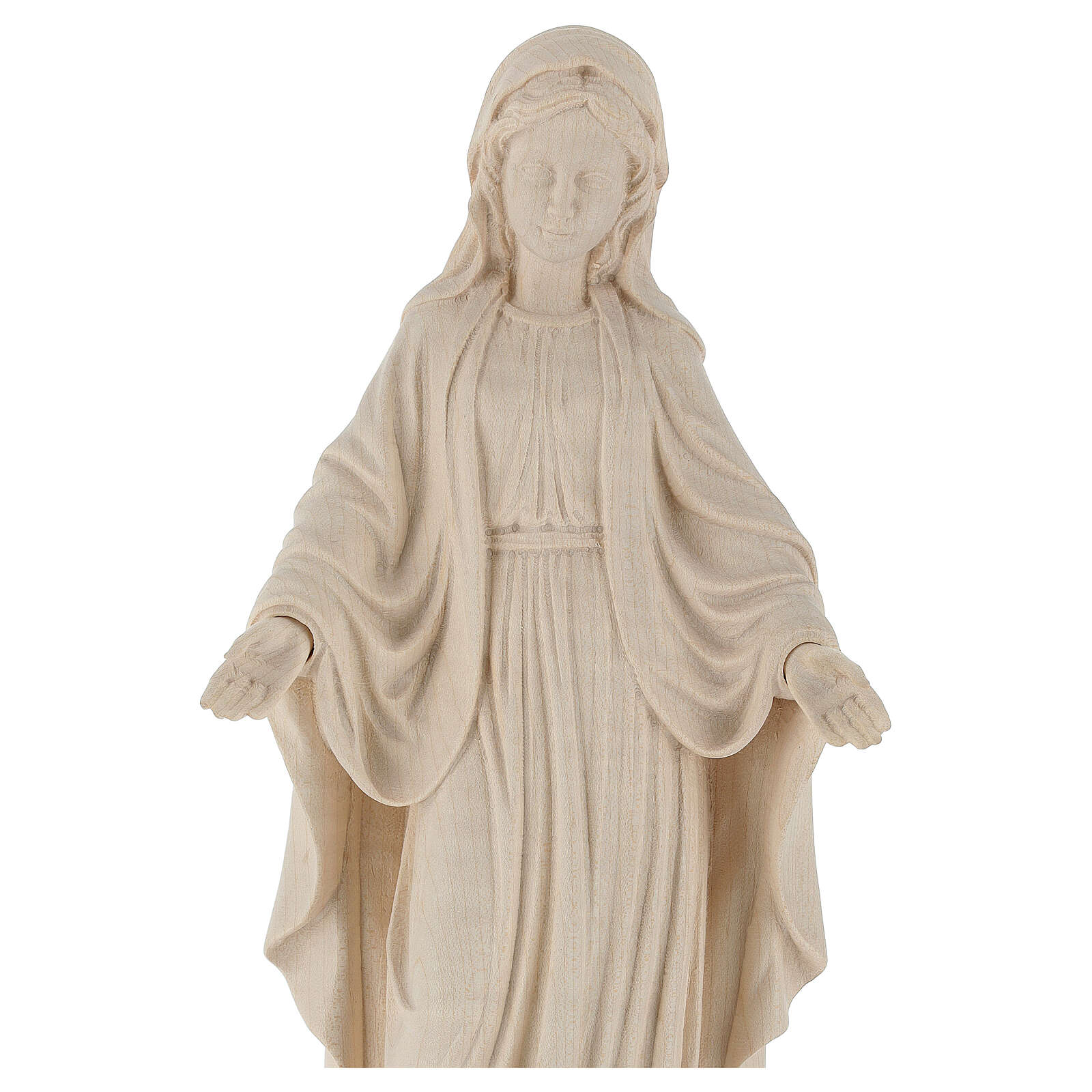 Our Lady of Graces in natural wood of Valgardena 4