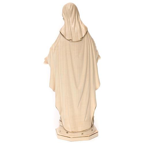 Virgen de las gracias madera Val Gardena encerado hilo oro 5