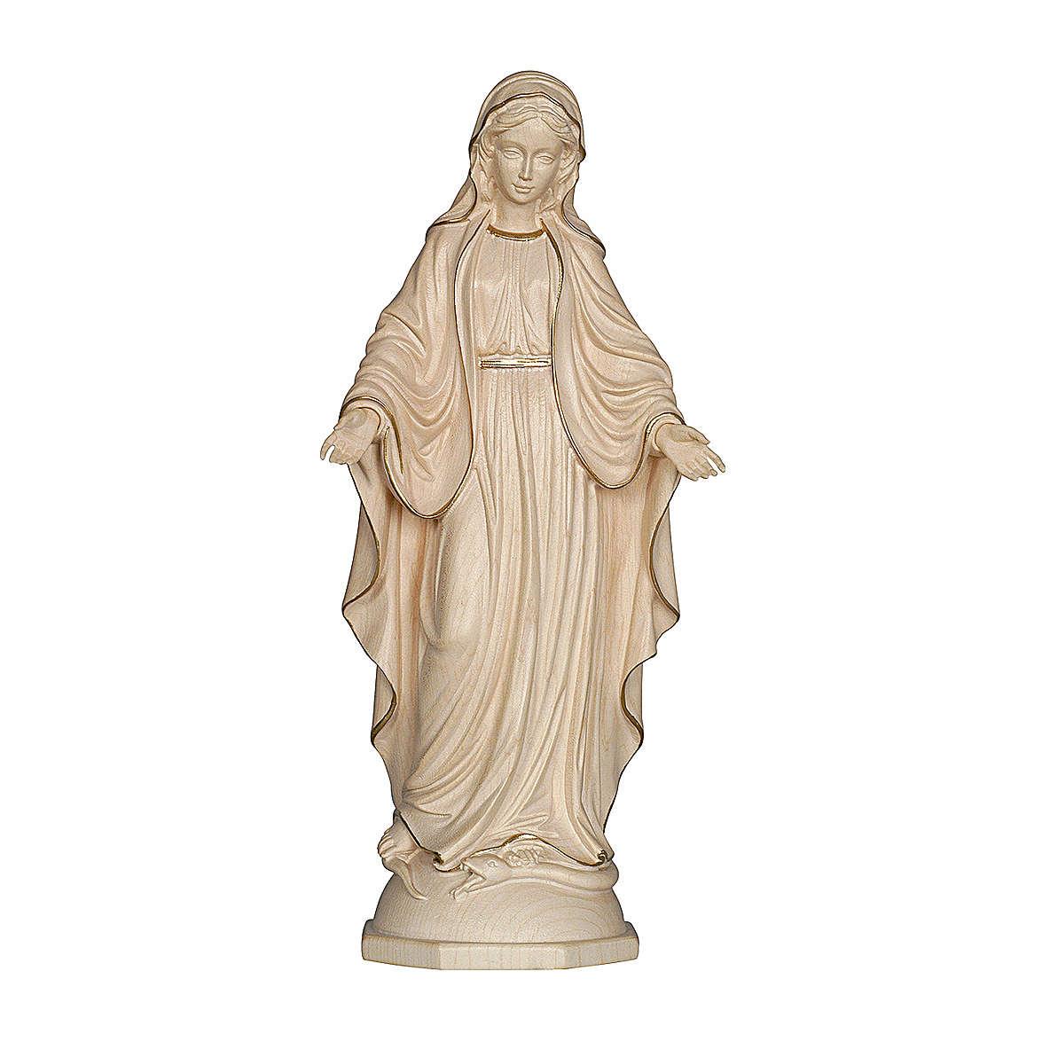 Madonna delle Grazie legno Valgardena cerato filo oro 4