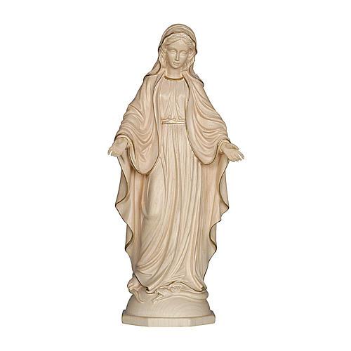 Madonna delle Grazie legno Valgardena cerato filo oro 1