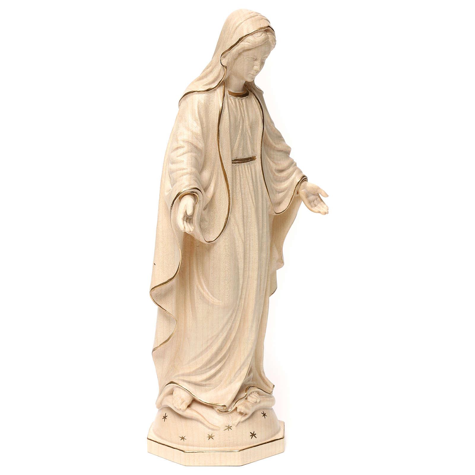 Matka Boża Łaskawa drewno Val Gardena woskowane złoty pasek 4