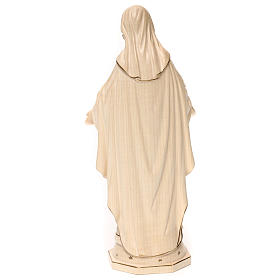 Our Lady of Graces in wood and wax decorated with gold thread Valgardena s5