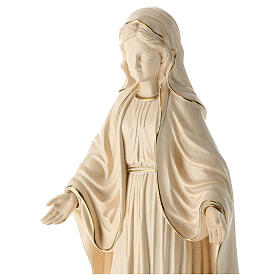 Our Lady of Graces in wood of Valgardena burnished in 3 colours s2