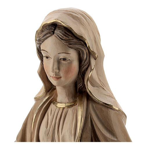 Our Lady of Graces in wood of Valgardena burnished in 3 colours 2