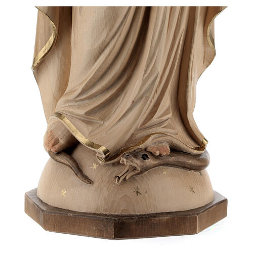 Our Lady of Graces in wood of Valgardena burnished in 3 colours 6