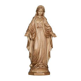 Imágenes de madera natural: Virgen de las gracias madera Val Gardena bruñida 3 colores