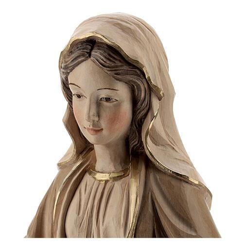 Nossa Senhora das Graças madeira Val Gardena brunida 3 tons 2