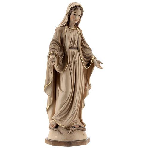 Nossa Senhora das Graças madeira Val Gardena brunida 3 tons 5