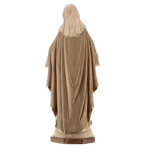 Nossa Senhora das Graças madeira Val Gardena brunida 3 tons 7