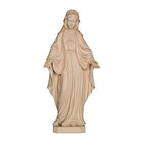 Imágenes de madera natural: Sagrado Corazón de María madera Val Gardena natural