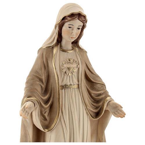 Sacro Cuore di Maria legno Valgardena brunito 3 colori 2