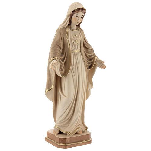 Sacro Cuore di Maria legno Valgardena brunito 3 colori 5